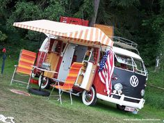 Can't afford an RV. Maybe this? My family had a VW bus, it was the first car I ever drove! Loved it.