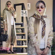 Abaya Fashion, Muslim Fashion, Kimono Fashion, Fashion Dresses, Sewing Dresses For Women, Clothes For Women, Iranian Women Fashion, Womens Fashion, Mode Hijab