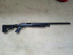 "Build in progress: Remington 870 with Blackhawk Specops Gen III stock & forend. Next: 18.5"" home defense barrel & +2 magazine extension."