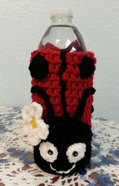 Ladybug Water Bottle Cozy  So cute :)