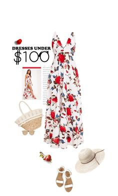 """Under $100: Summer Dresses"" by likepolyfashion ❤ liked on Polyvore featuring Sun N' Sand, Le Specs and under100"