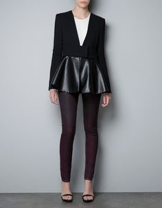 STUDIO BLAZER WITH COMBINED FRILL
