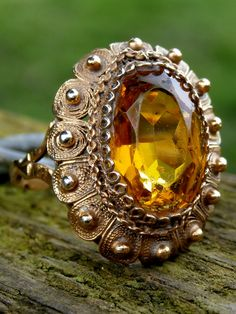 Very Rare Antique 17th Century Era French Gold Gilt Glove Ring – Marquise Faceted Madeira Citrine 'Formal Dress Style' : Circa 1650 - 1700 by Timeslide on Etsy https://www.etsy.com/listing/515215237/very-rare-antique-17th-century-era