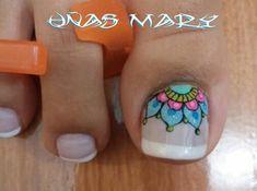 Pretty Toe Nails, Pretty Toes, Nail Art Pieds, Cute Pedicures, French Pedicure, Nail Polish Crafts, Toe Nail Designs, Toe Nail Art, Mani Pedi
