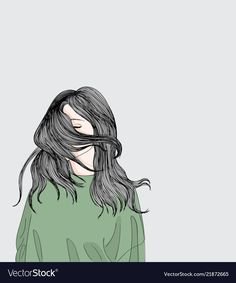 The girl stands outside her sad vector image Sad Girl Art, Sad Art, Anime Art Girl, Cute Girl Drawing, Cartoon Girl Drawing, Girl Cartoon, Cartoon Drawings, Drawings Pinterest, Illustration Girl