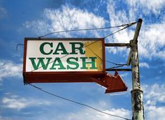 An old car wash sign in Tucumcari. Car Wash Sign, Car Washes, Old Cars, Let It Be, Facebook, Signs, Twitter, World, Vintage