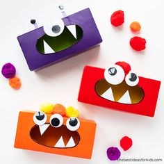 Tips For Just A Second Wedding Ceremony Anniversary Reward Tissue Box Monster Craft For Kids Recycled Crafts Kids, Spring Crafts For Kids, Halloween Crafts For Kids, Easy Crafts For Kids, Tissue Box Crafts, Tissue Boxes, Monster Crafts, Origami Frog, Indoor Activities For Kids