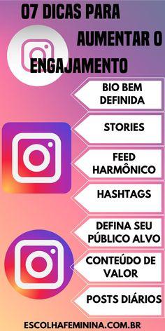 Click no PIN e veja as 09 dicas para você aumentar o engajamento no Instagram, de forma simples e rápida. #engajamento#comoaumentaroengajamentonoinstagram#instagram#instagramdicas#seguidores#redessociais