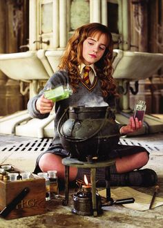 The brightest witch of her age at work #HarryPotter #Hermione