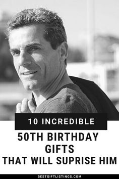 Celebrating one's 50th birthday is a HUGE Life Accomplishment. Here are 10 Outstanding 50th Birthday Gifts for Men | Gifts for 50th Birthday #bestgiftlistings #bgl #50thbirthdaygifts #giftsfor50thbirthday #50thbirthdaypresents #50thbirthdaygiftsformen