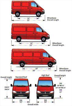 Mercedes Sprinter Van Dimensions - Bing Images More (Camping Hacks) Van Conversion Interior, Camper Van Conversion Diy, Van Interior, Kitchen Interior, Custom Camper Vans, Custom Campers, Camping Car Sprinter, Van Life, Equipement Camping Car