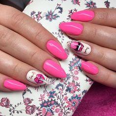 Macarena Gel Polish by Karolina Opalińska, Indigo Young Team  #nails #nail #nailsart #indigonails #indigo #hotnails #summernails #springnails #omgnails #amazingnails #pink #pinknails #thinkpink #macarena #gelpolish #badicon