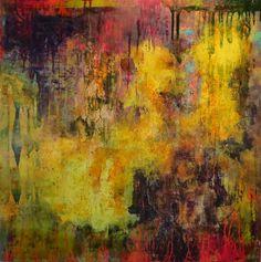 "Katherine Treffinger - 'Ojo de la Reina' Oil on panel, 24""x24"" #abstract #abstractart #abstractpainting #abstractexpressionism #expressionism #expressionist"