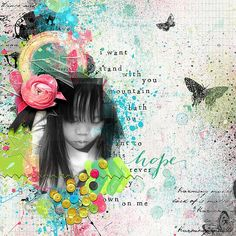 I was playing with September Memory Mix goodies -  Used packs from NBK Designs (paper, mask and elements), France M (word art), Dita B (elements), and Angelle (elements)