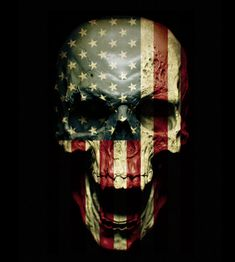 USA Flag Skull Door wrap - Rm wraps Store - 2