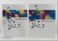 Water Drop Bokeh Technique Card with Everything Eleanor (VIDEO TUTORIAL) | Northwest Stamper Craft Tutorials, Craft Ideas, Bokeh Effect, Just Ink, Bokeh Background, General Crafts, Water Drops, Scrapbooking Layouts, Cardmaking
