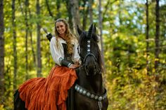 Sandra Beaulieu and her Friesian horse Douwe on the set of Essential Realism, an indie film directed by Alan Dillingham. Douwe got to play a magical unicorn! Photo taken at Safe Haven Farm in Durham, ME. www.beginthedance.com