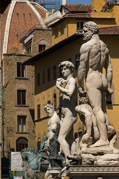 Statues, Florence, Italy