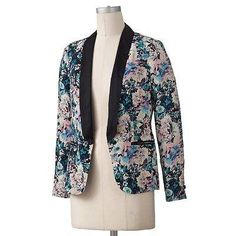 The floral tuxedo blazer has an amazing design and is very distinctive ad it can be dressed up or down. Another favorite!