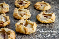White Peach Mini Galettes - poet in the pantry