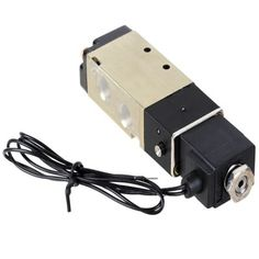 DC 24V 2 Position 5 Way G1/8 Exhaust Pneumatic Electromagnetic Solenoid Valve w / Cable #men, #hats, #watches, #belts, #fashion, #style
