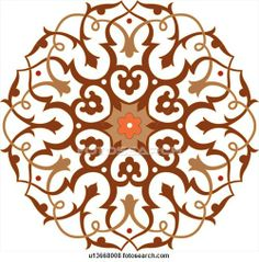 Orange, red and brown circular Design Ornament
