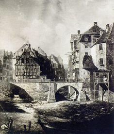 Wrocław - Ujście fosy wewnętrznej do Odry i most Wszystkich Świętych (1840-1866)
