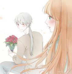 anime, boy, and couple 이미지