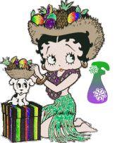 Alfabeto tintineante de Betty Boop Hawaiana. | Oh my Alfabetos!