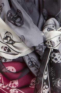 Alexander McQueen 'Skull Dégradé' Silk Scarf | Nordstrom - must have! :)