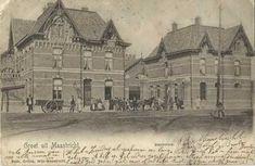 x 1902 - Slachhoes aon de Franssensingel. Louvre, History, Building, Travel, Nostalgia, Pencil, Painting Art, Historia, Viajes