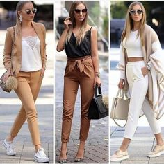 Bow pants and high waisted pants styling ideas – Just Trendy Girls – Decor Style 2019 Nude Outfits, Classy Outfits, Trendy Outfits, Fall Outfits, Fashion Outfits, Semi Formal Outfits For Women, Fashion Clothes, Business Casual Outfits, Office Outfits