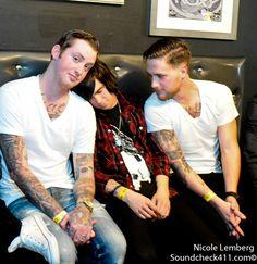 Jesse, Kellin, Gabe--sleeping with sirens.
