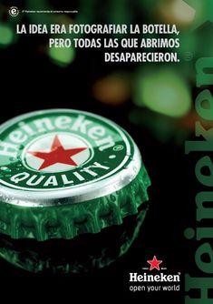 Heineken - La idea era fotografiar las botella pero todas las que abrimos desaparecieron . Anuncios.com
