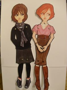 Jointed Breakfast Club paper dolls