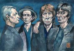 "Saatchi Art Artist HARI MITRUSHI; Painting, ""The Band"" #art"