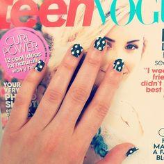 Fun polka dot nails, courtesy of Kate Spade New York