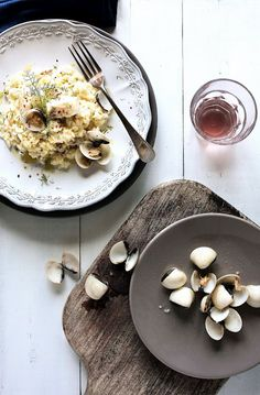 Pink ling and clam risotto © Mónica Pinto