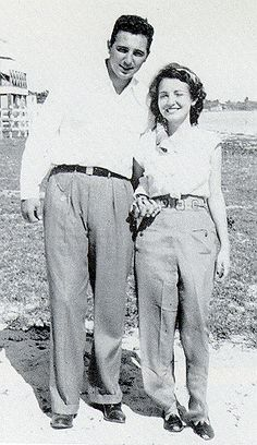 1949: Fidel and first wife Mirta Diaz-Balart were quite the fashion plates.
