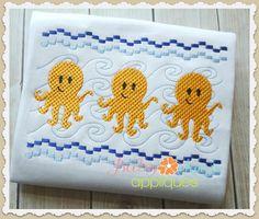 Baby Kay's Appliques - Octopus Faux Smock 4x4, 7x3, 7x5, $1.00 (http://www.babykaysappliques.com/octopus-faux-smock-4x4-7x3-7x5/)