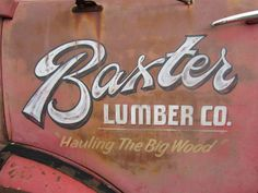 """Baxter from """"Back to the car show at the Minnesota State Fair Grounds Truck Lettering, Types Of Lettering, Lettering Design, Vintage Typography, Typography Letters, Typography Logo, Logos, Door Signage, Door Letters"""