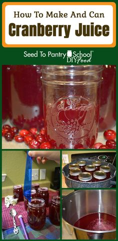 How to make and can cranberry juice from fresh or frozen cranberries. Cranberry Juice Cocktail, Cranberry Jam, How To Make Juice, How To Make Pickles, Healthy Juice Recipes, Healthy Juices, Healthy Drinks, Healthy Eats