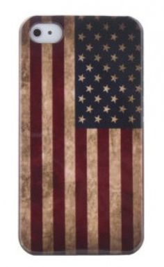 Coconut Vintage iPhone 4S Case USA Stars and Stripes Flagge