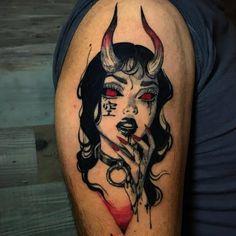 Gamer Tattoos, Anime Tattoos, Body Art Tattoos, Sleeve Tattoos, Girl Stomach Tattoos, Tattoos Of Girls, Satanic Tattoos, Creepy Tattoos, Cute Tattoos