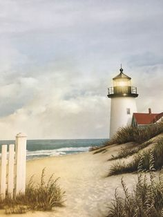 One sheet of scrapbook paper Acid and lignin free Watercolor Landscape, Landscape Paintings, Beautiful Places, Beautiful Pictures, Lighthouse Painting, Lighthouse Pictures, Beacon Of Light, Beach Scenes, Windmill
