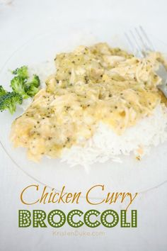 Chicken Curry Broccoli Recipe - love this tasty family dinner meal! http://KristenDuke.com