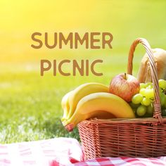 Summer Themes, Summer Picnic, Wicker Baskets, Mood Boards, Fruit, Outdoor, Color, Home Decor, Style