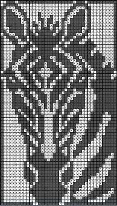 Filet Crochet, Crochet Cross, Crochet Home, Tapestry Crochet Patterns, Loom Patterns, Beading Patterns, Beaded Cross Stitch, Cross Stitch Embroidery, Cross Stitch Patterns