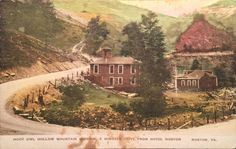 OLD POSTCARD HOOT OWL HOLLOW MOUNTAIN MISSION HOTEL NORTON VIRGINIA, NICE!!!