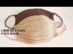 easy diy crochet face mask with filter easy crochet face mask pattern for kids and adults! Crochet Video, Easy Crochet, Free Crochet, Crochet Mask, Crochet Faces, Easy Face Masks, Diy Face Mask, Easy Knitting Projects, Crochet Projects